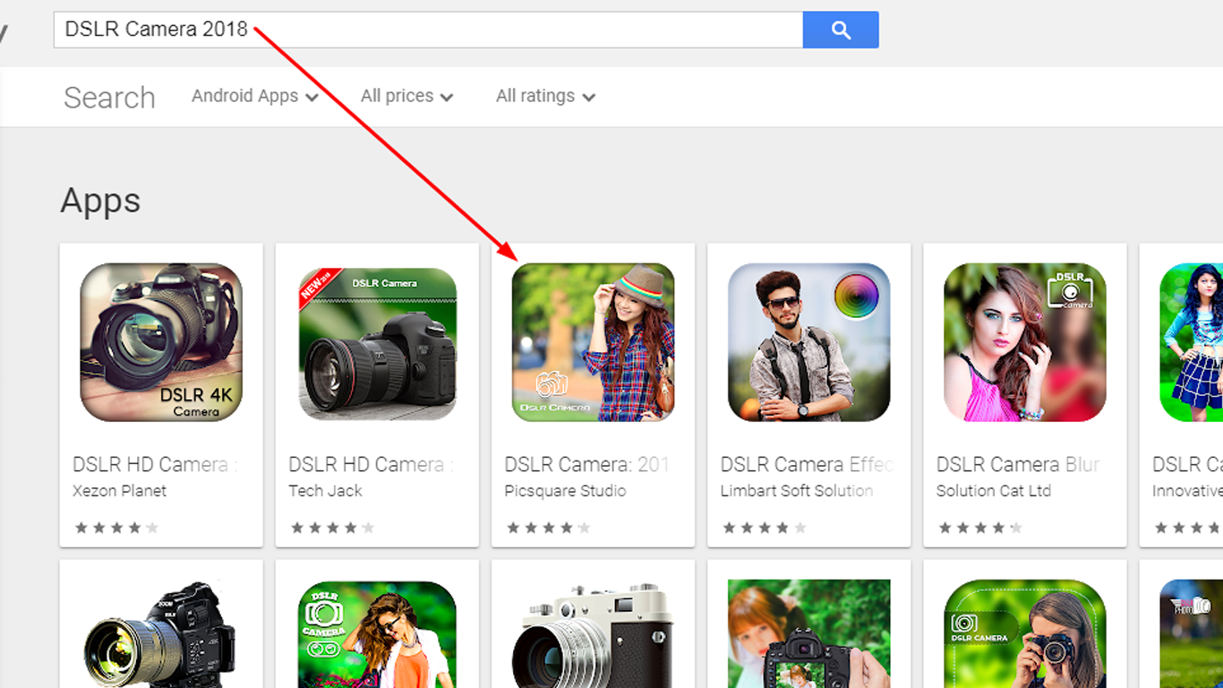 "Top Ranking Android App On Google Play Store ""DSLR Camera 2018"""